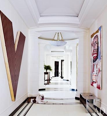 David Kleinberg design in Manhatta entryway