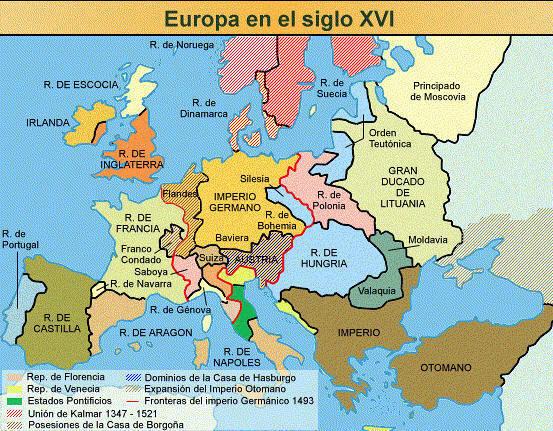 Siglo de Oro : Mapas de Europa siglos XVI y XVII