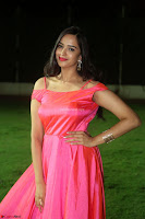 Actress Pujita Ponnada in beautiful red dress at Darshakudu music launch ~ Celebrities Galleries 045.JPG