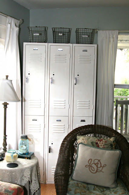 White vintage lockers