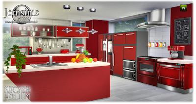 Cozinha moderna em 4 cores.