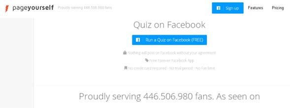 pageyourself fb quiz creator