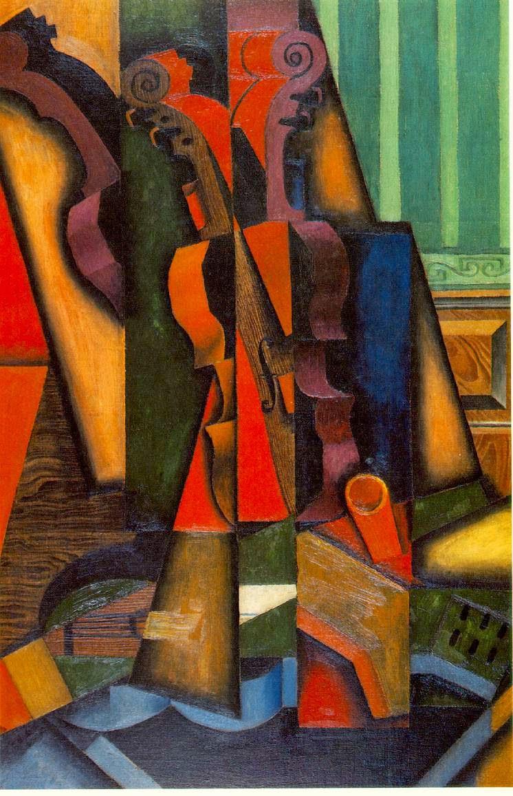 Violino e Guitarra - Técnica de colagem e cubismo nas obras de Juan Gris