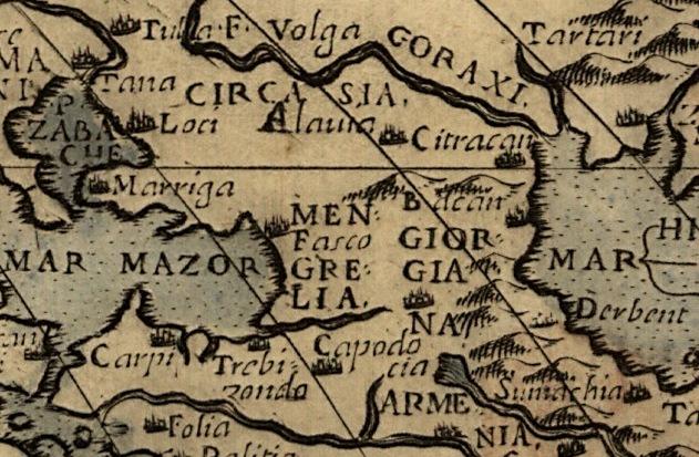 Исторические карты Кавказа, Черкасия, Черкесия, Алания, Азовское море