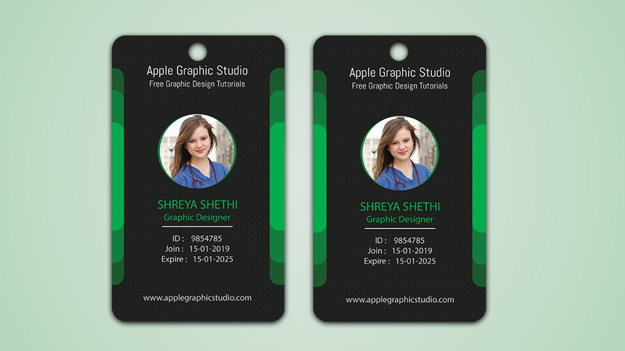 How to Make Your Own ID Badge in Photoshop - Apple Graphic Studio