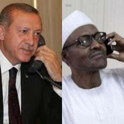 Turkey's President Erdogan Calls Nigeria President On His Recovery