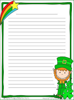St. Patrick's Day lined paper