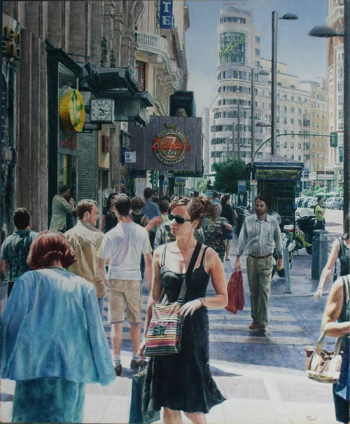 08-Christian-Pignol-Chaotic-Urban-Life-Captured-in-Paintings-www-designstack-co