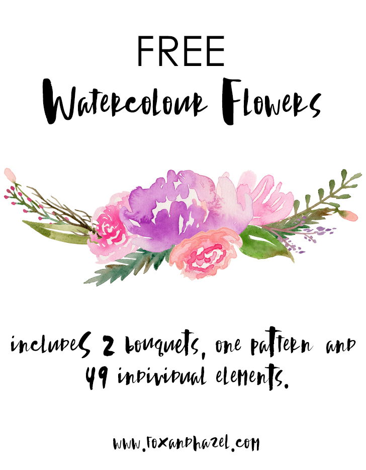 watercolor flower clipart free - photo #46