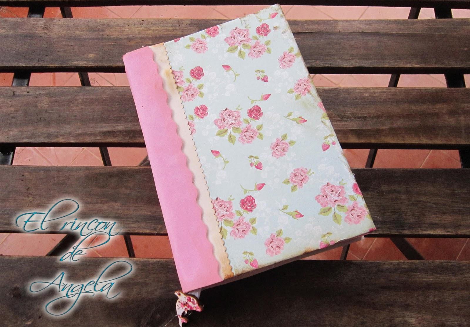 El rincon de angela como decorar tu agenda estilo shabby chic vintage muy facil - Como decorar una agenda ...