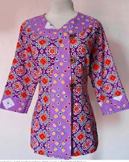 Foto Model Baju Kerja Batik Modern