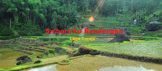 Download Lagu Toraja Terbaik Sa'bara'ko Rendengku