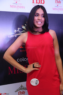 Spatika Surapaneni in Red Tight Dress at FBB Miss India 2017 finalists at Telangana auditions Feb 2017 (30).JPG