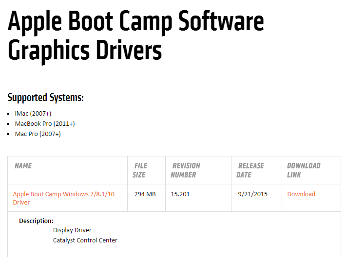 Amd Bootcamp Drivers