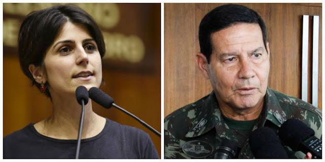 Manuela e General Mourão: dois vices com perfis muito diferentes