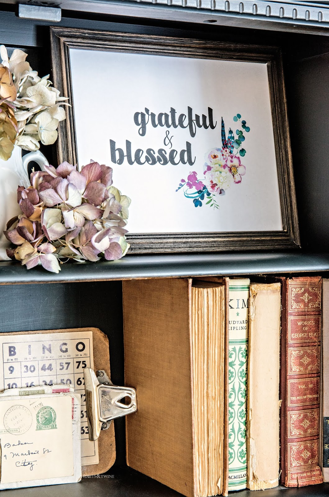 Grateful and blessed free printable