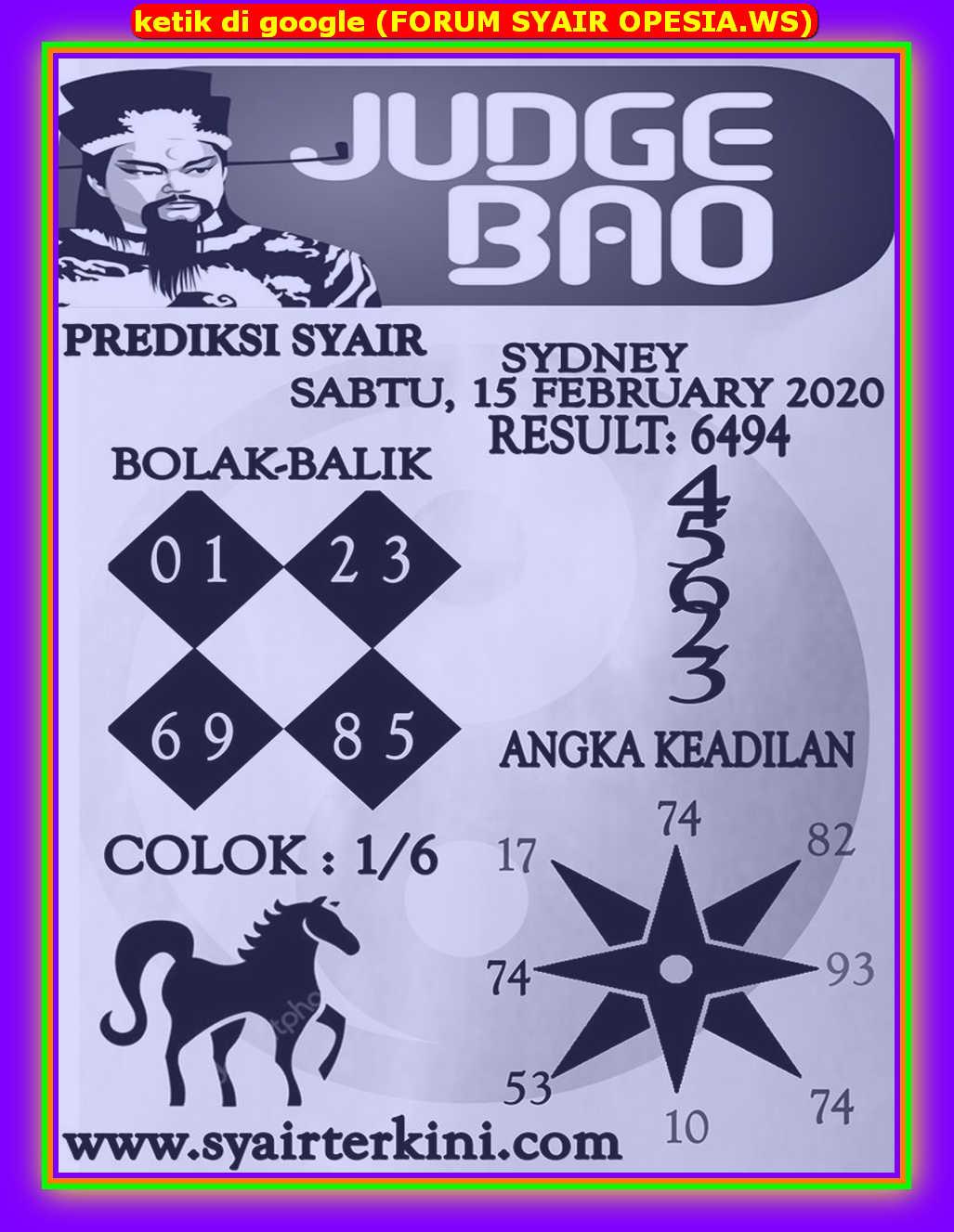 Kode syair Sydney Sabtu 15 Februari 2020 147