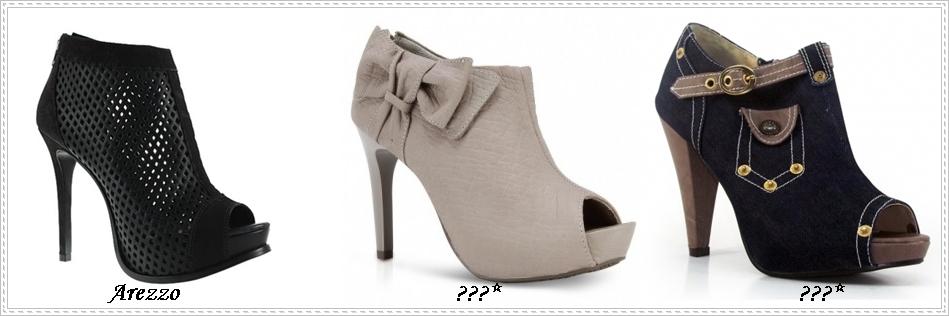 5708fa846 Open Boot: são botas abertas, ou seja, são as Ankle Boots com abertura na  frente no estilo Peep Toe. Muito charmosasss!!!