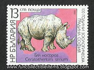 White Rhino stamp