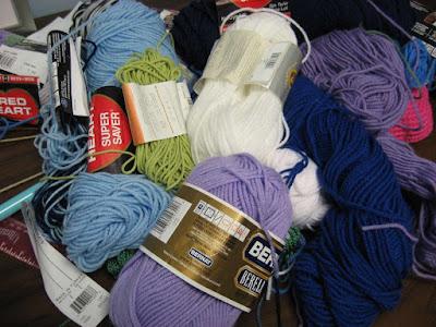 Messy yarn pile