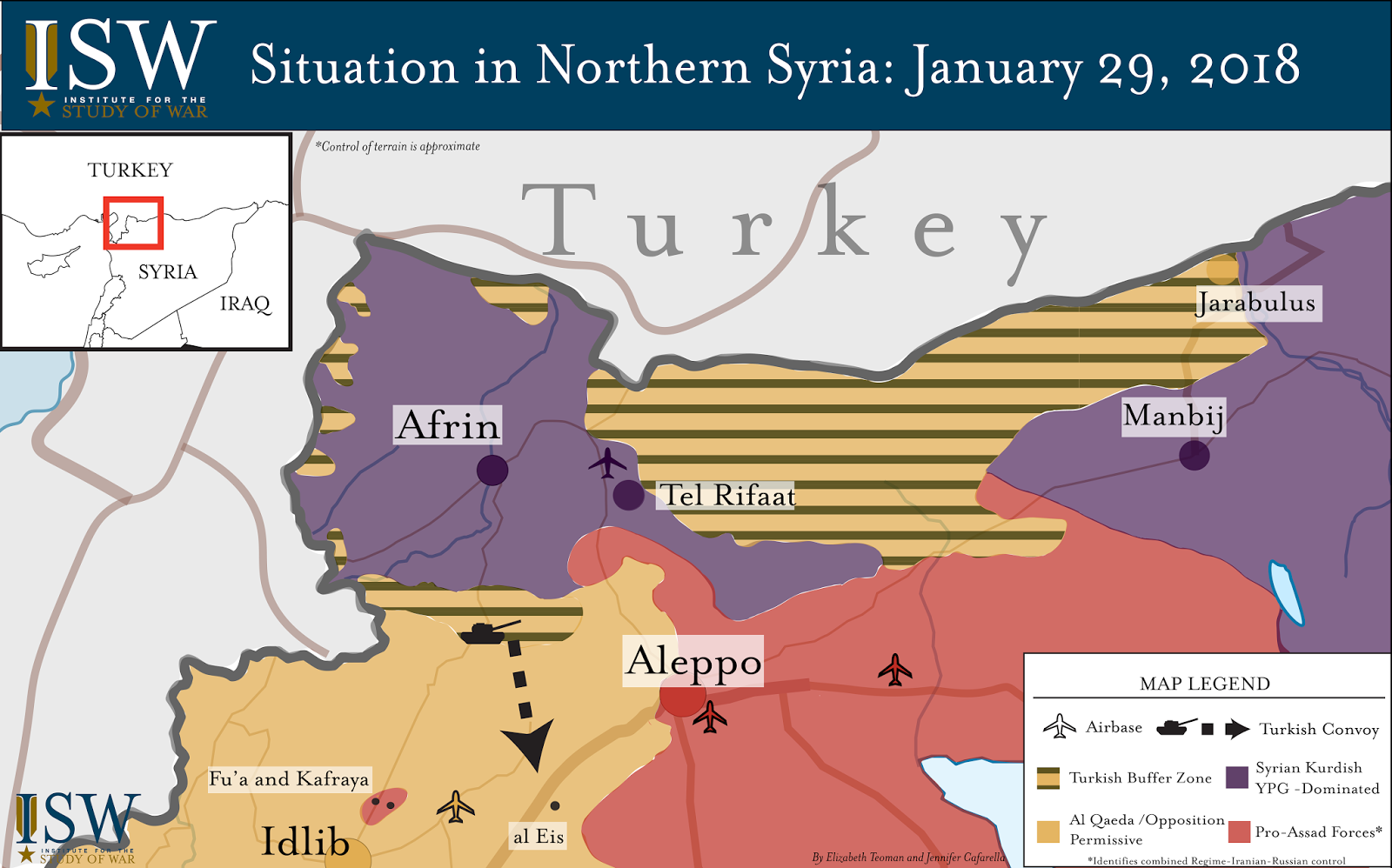 ISW Blog Turkey Escalates Against ProAssad Forces To Protect - Where is syria and turkey