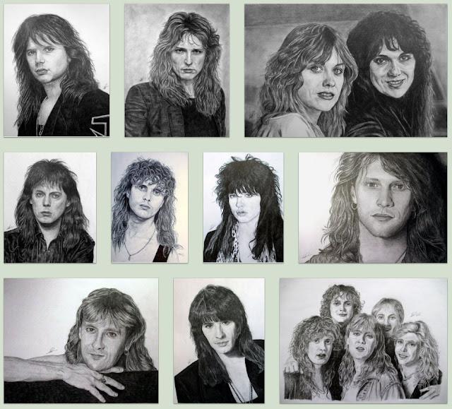 Πορτραίτα rock stars ζωγραφισμένα από την Noelia