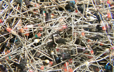 Image of hundreds of diodes in a jumbled mass