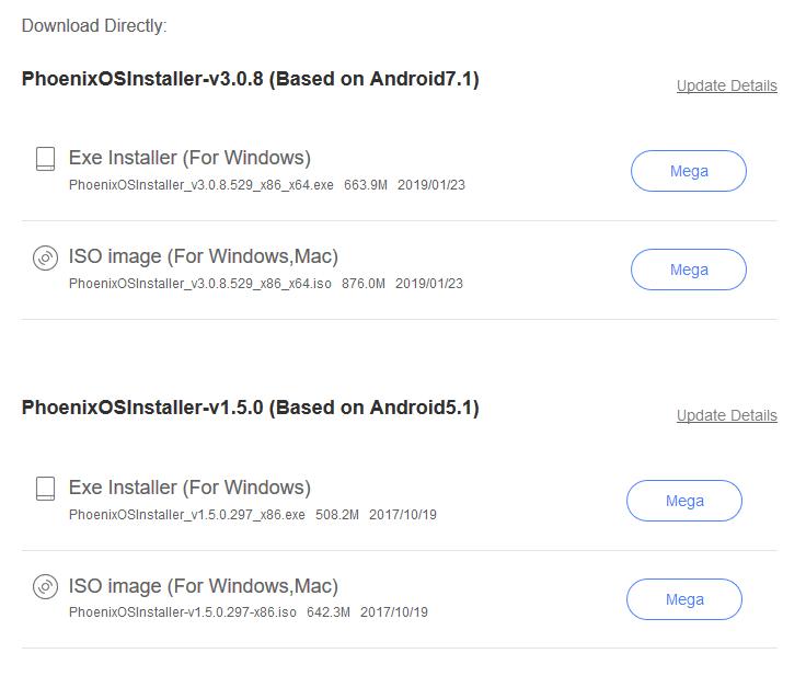 Memilih File Phoenix OS
