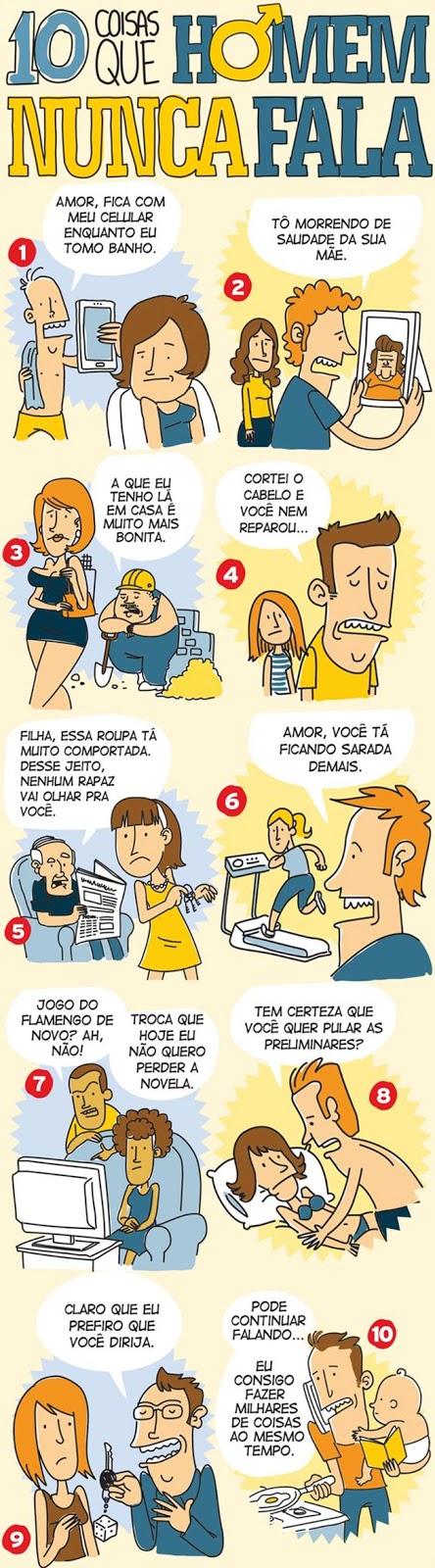 10 coisas que homem nunca fala