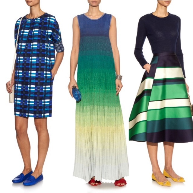 Blue and green spring looks on Matchesfashion.com