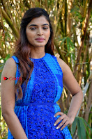 Tamil Actress Sanchita Shetty Latest Pos in Blue Dress at Yenda Thalaiyila Yenna Vekkala Audio Launch  0004.jpg
