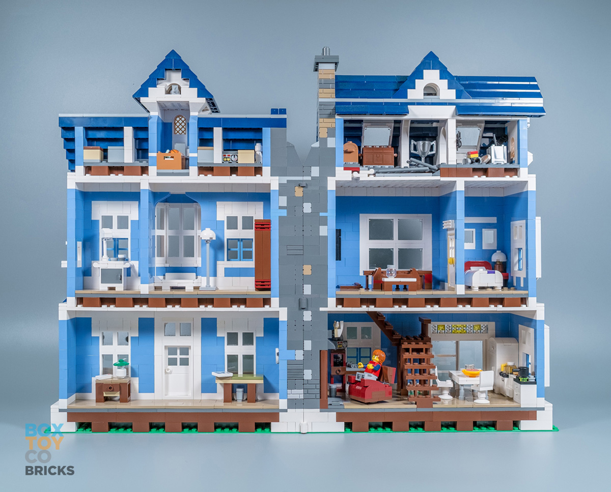 Bricktoyco Custom Lego Victoria House Mocthat Opens To Reveal Detailed Interior