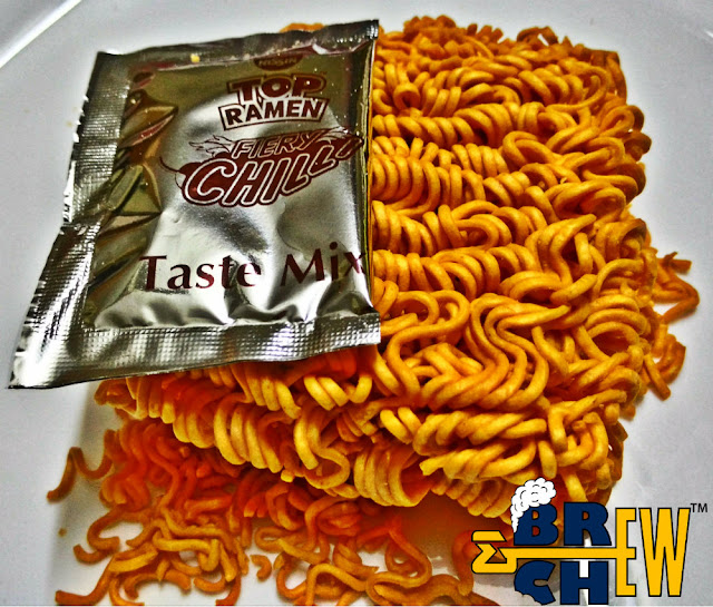 Top Ramen Fiery Chilli Noodles Review Inside
