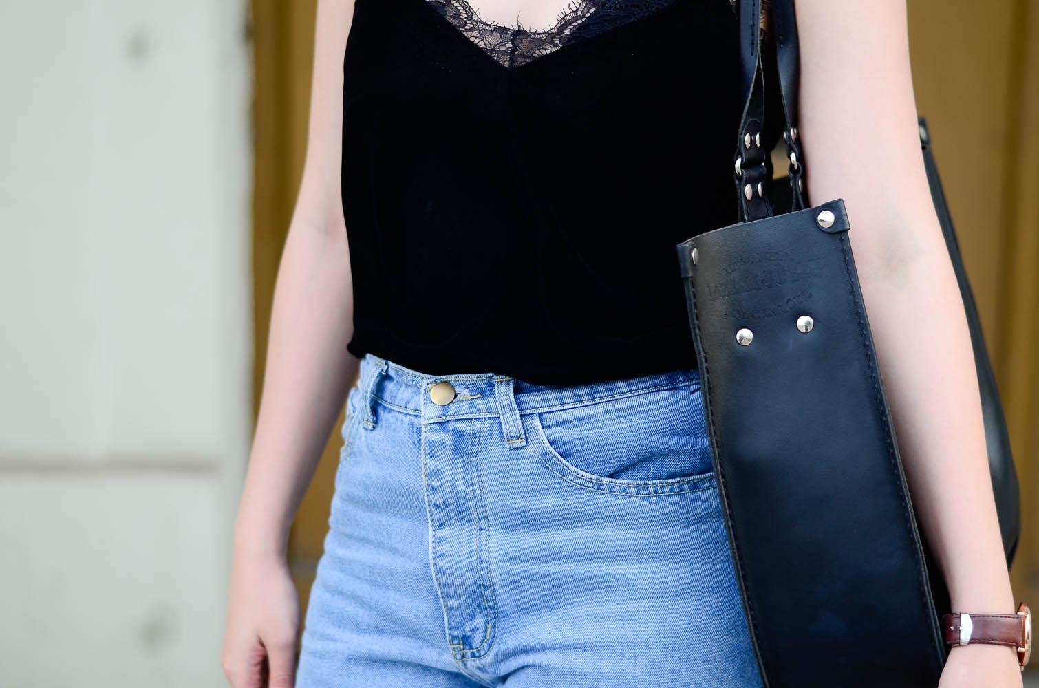 top z koronką, mom jeans,adidas superstar, stylizacja, lato, blog, trendy