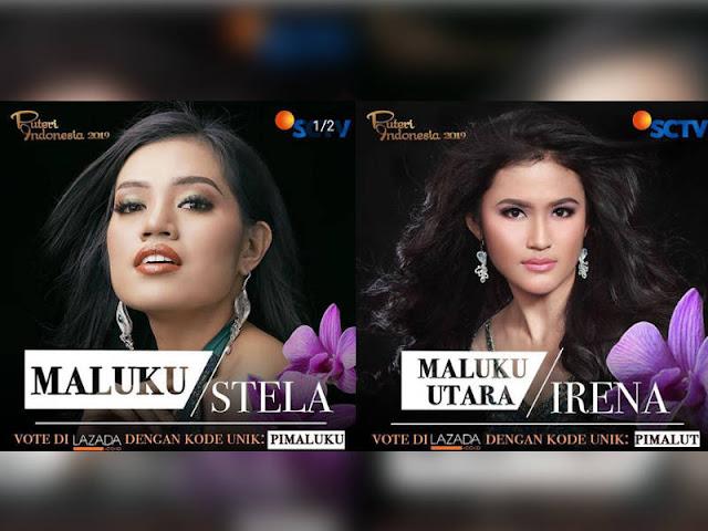 Stela Lumalessil dan Irena Shafira Promosi Lelemuku di Puteri Indonesia 2019