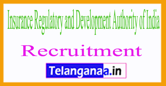 Insurance Regulatory and Development Authority of India IRDA Recruitment Notification 2017
