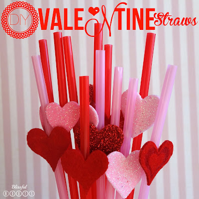 DIY Valentines Straws from Blissful Roots