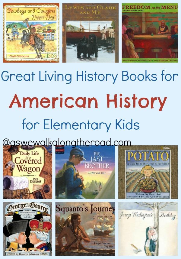 Living Books for American history for elementary kids