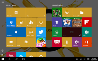 Cloudfone Cloudpad Epic 7.1 Windows 10 UI
