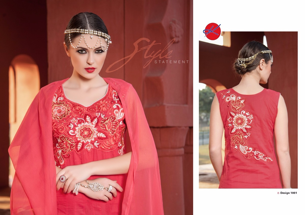 Pearl – Designer Stylish Cotton Ready to wear Anarakali suit