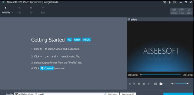 تحميل برنامج تحويل الفيديو للكمبيوتر Aiseesoft MP4 Video Converter