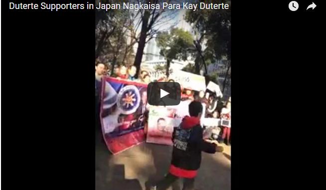 Duterte Supporters sa Japan Nagkaisa Para Ipakita ang Supporta sa Duterte Admin