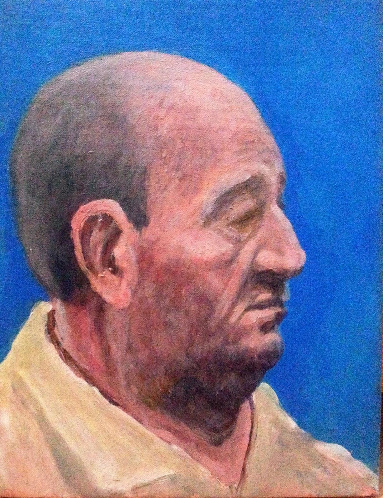 Pintando en cualquier parte retrato con acrilicos - Retrato oleo paso a paso ...