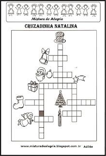Cruzadinha com o tema natal
