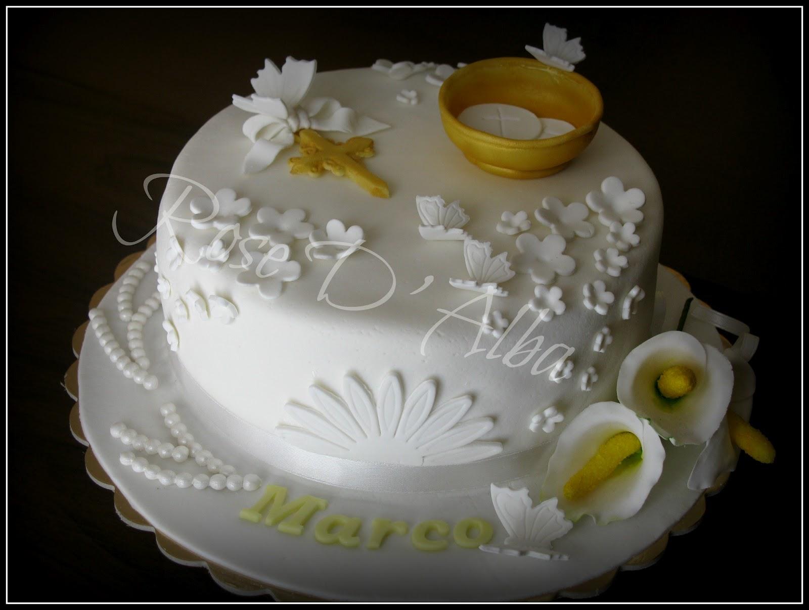 Super ROSE D' ALBA cake designer: La prima Comunione di Marco MX26