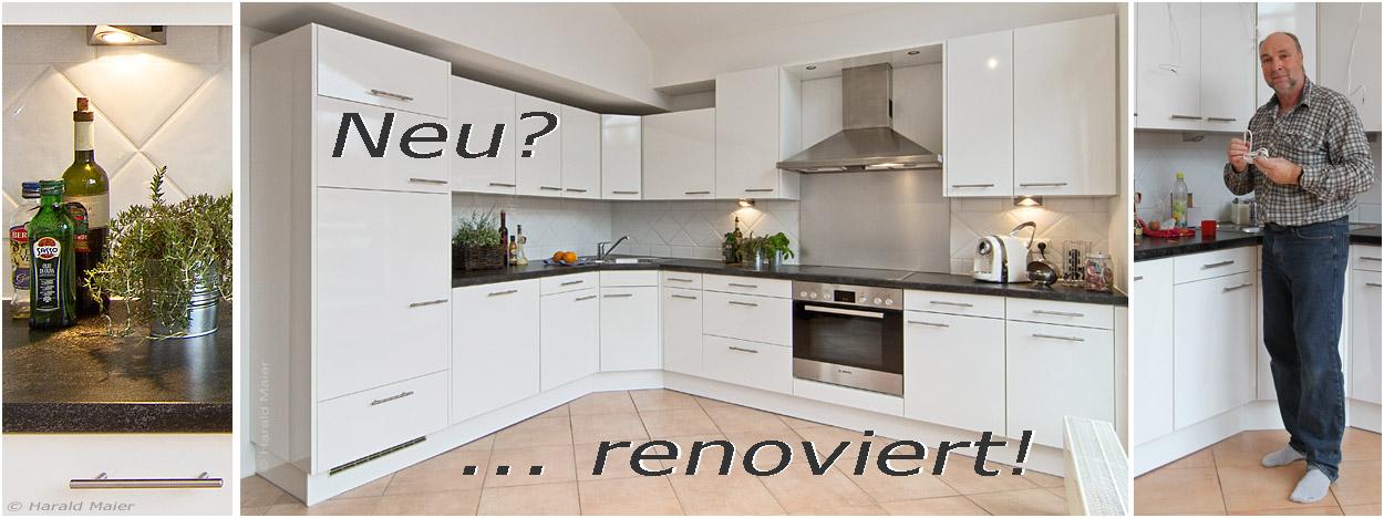 Wir renovieren Ihre Küche : Weisse Kueche - neue Fronten