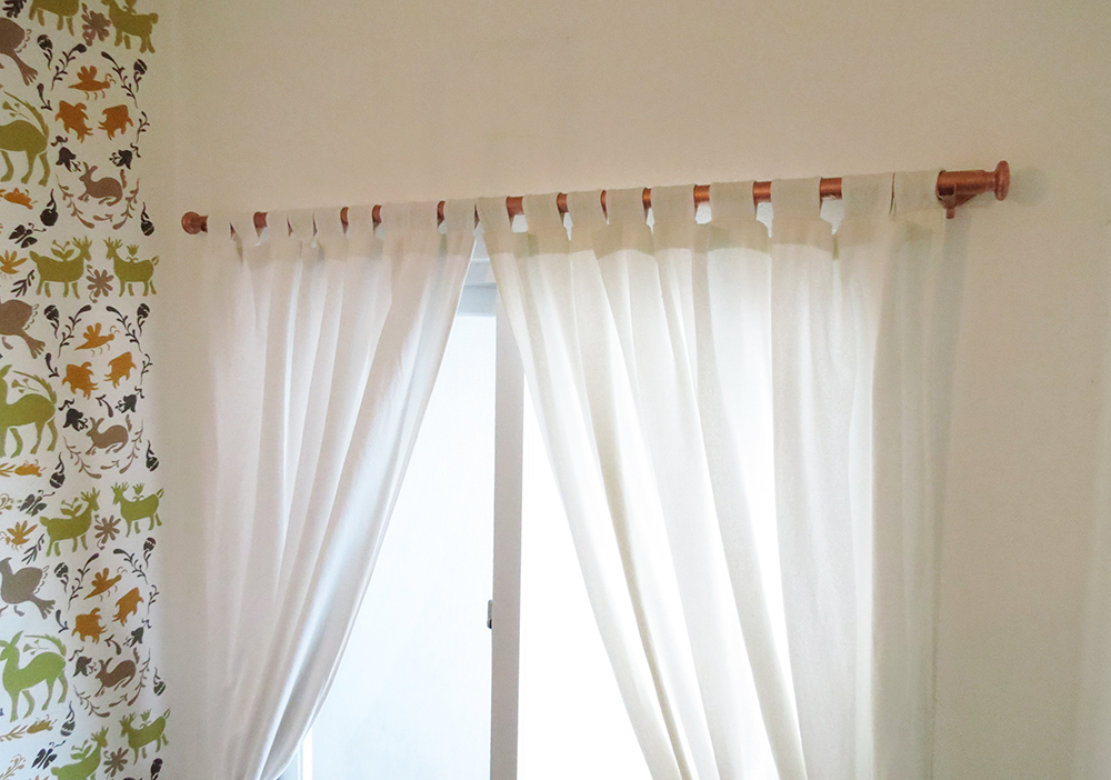 How to bulid a curtain rod for almost no money