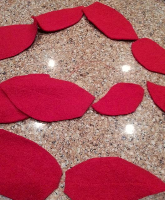 Pottery Barn Poinsettia Pillow: Pottery Barn Knock-Off Poinsettia Pillow Red This Time