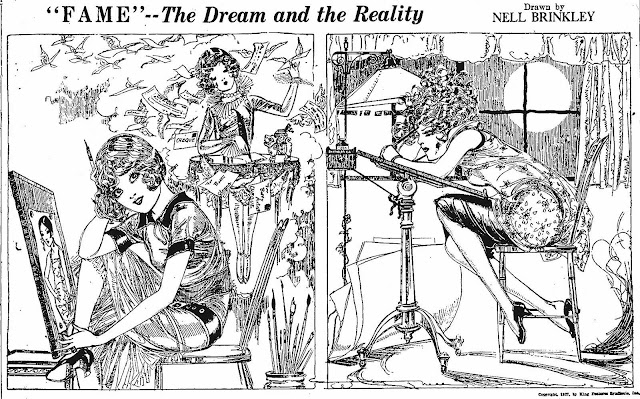 a Nell Brinkley cartoon about herself 1927