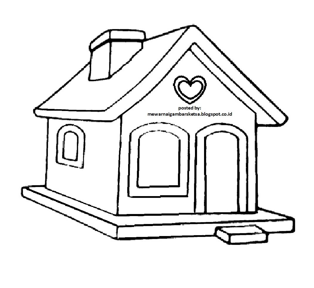 Mewarnai Gambar Rumah Anak Sd Rumah Joglo Limasan Work